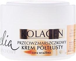 Düfte, Parfümerie und Kosmetik Anti-Falten Gesichtscreme mit Kollagen und Ziegenmilch für empfindliche Haut - Celia Collagen Cream