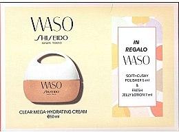 Düfte, Parfümerie und Kosmetik Gesichtspflegeset - Shiseido Waso Set(Creme 50ml + Peeling zur Hautreinigung 5ml + Gelee Lotion 7ml+ Beutel)