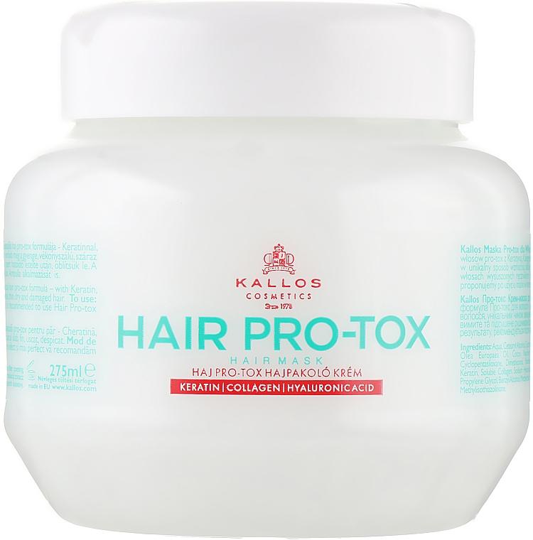 Haarmaske mit Keratin, Kollagen und Hyaluronsäure - Kallos Cosmetics Pro-Tox Hair Mask