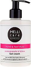 Düfte, Parfümerie und Kosmetik Fußcreme mit Granatapfel und Litschi - Melli Care Pomegranate&Lichee Foot Cream