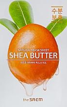 Düfte, Parfümerie und Kosmetik Tuchmaske für das Gesicht mit Sheabutter-Extrakt - The Saem Natural Shea Butter Mask Sheet