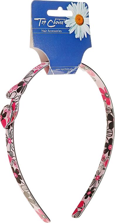 Haarreif mit Blumenmuster rosa - Top Choice — Bild N1