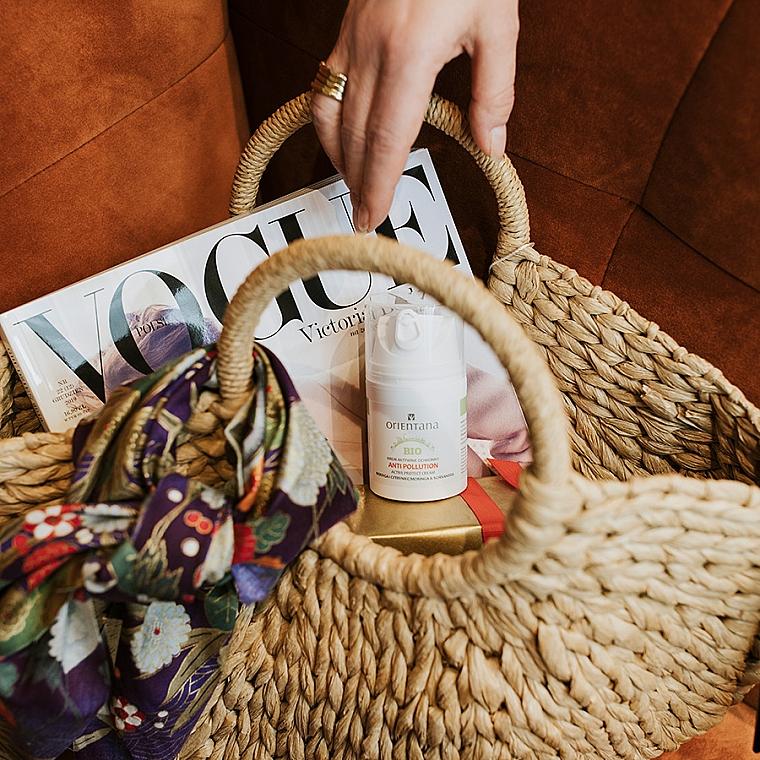 Aktiv schützende Gesichtscreme vor schädlichen und aggresiven Umwelteinwirkungen mit Moringa und Schisandra SPF 15 - Orientana Bio Active Protect Cream Anti Pollution Moringa & Schisandra — Bild N2
