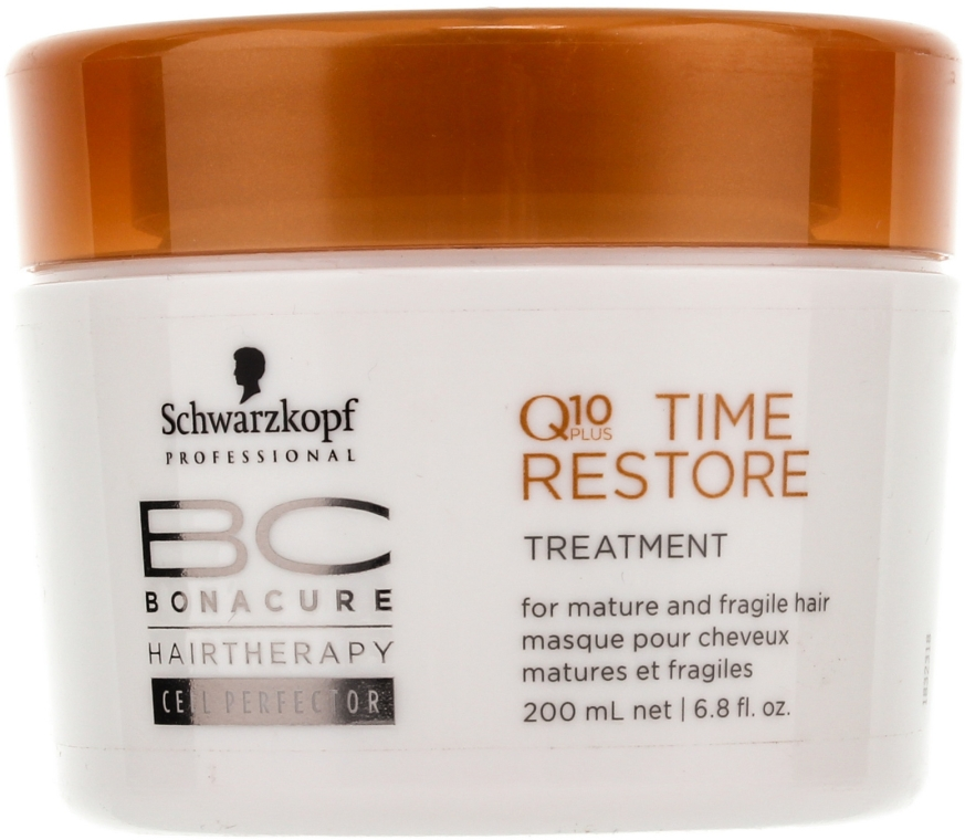 Intensive Q10 Haarkur für reifes Haar - Schwarzkopf Professional BC Bonacure Time Restore Q10 Plus Treatment  — Bild N1