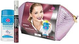 Düfte, Parfümerie und Kosmetik Dermacol (Lippenstift 4,8g + Make-up Entferner 120ml + Kosmetiktasche) - Makeup Set