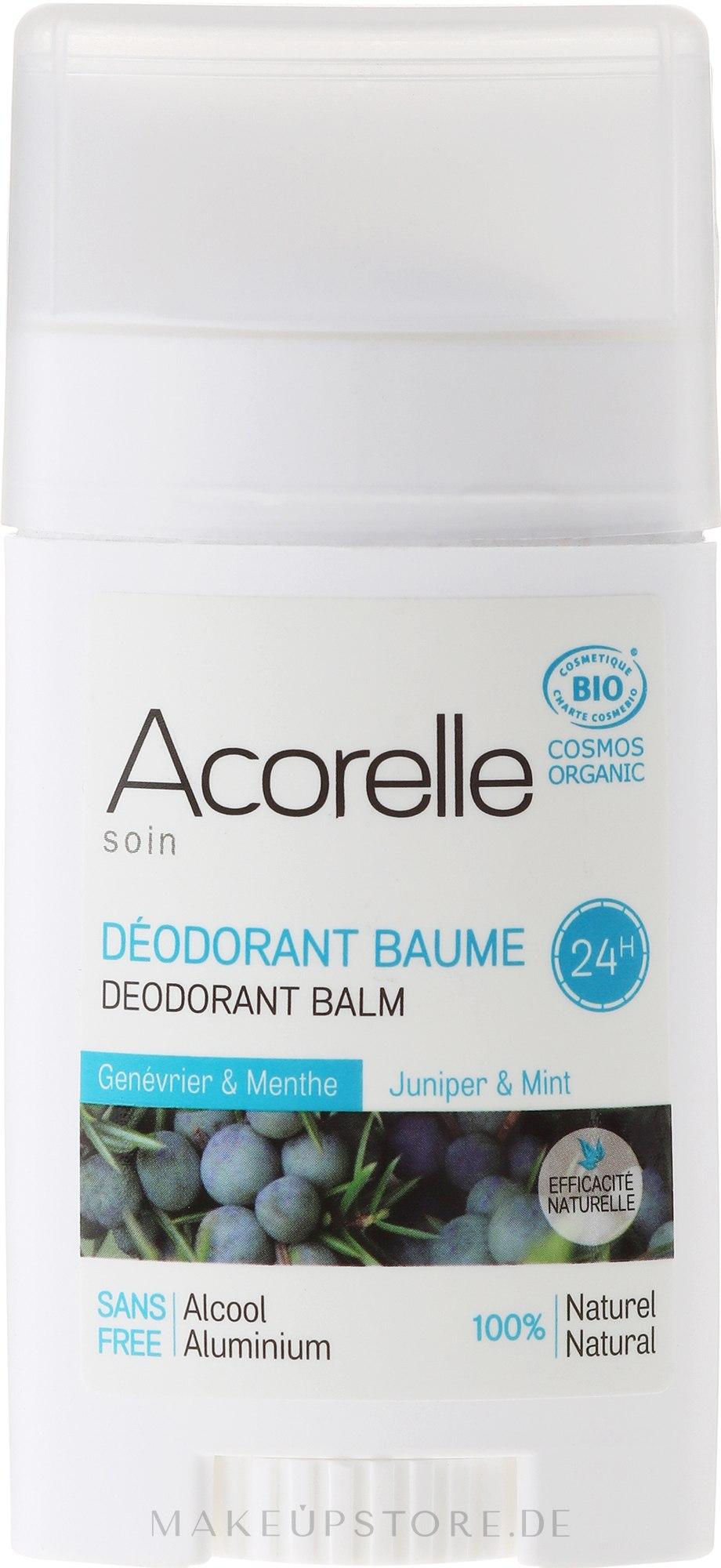Bio Deostick mit Wacholder und Minze - Acorelle Deodorant Balm — Bild 40 g