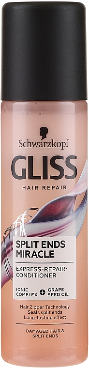Conditioner-Spray für geschädigtes und zu Spliss neigendes Haar - Schwarzkopf Gliss Split Ends Miracle Express-Repair Conditioner