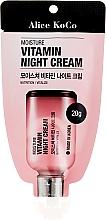 Düfte, Parfümerie und Kosmetik Feuchtigkeitsspendende Nachtcreme mit Vitaminen - Alice Koco Vitamine Night Cream