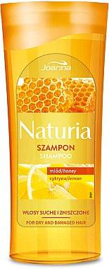 Shampoo für trockenes und strapaziertes Haar mit Honig und Zitrone - Joanna Naturia Shampoo With Honey And Lemon