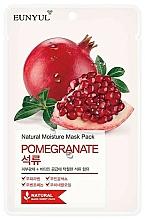Düfte, Parfümerie und Kosmetik Tuchmaske für das Gesicht mit Granatapfelextrakt - Eunyul Natural Moisture Pomegranate Mask