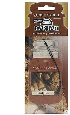 Papier-Lufterfrischer Leather - Yankee Candle Leather Car Jar  — Bild N1