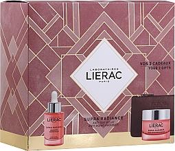 Düfte, Parfümerie und Kosmetik Gesichtspflegeset - Lierac Supra Radiance (Gesichtsserum 30ml + Gesichtscreme 50ml + Geldbörse)