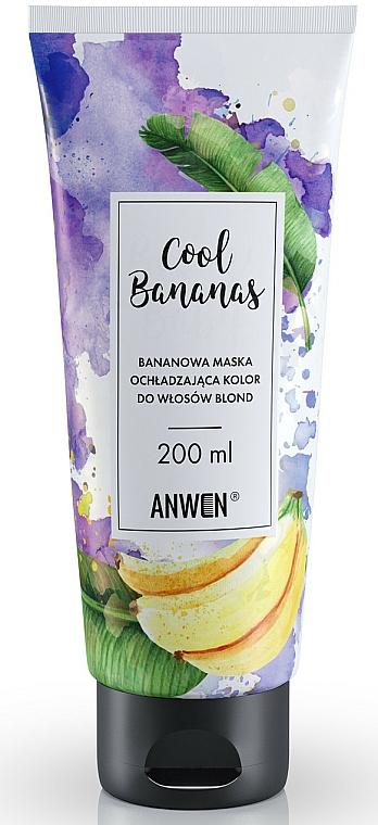 Maske für blondes Haar mit Bananenduft - Anwen Cool Bananas Color Cooling Mask For Blond Hair — Bild N1