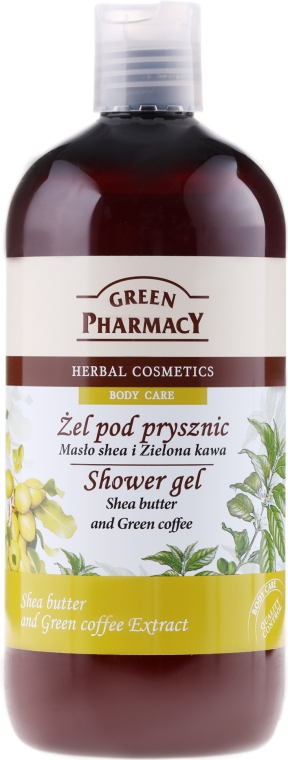 "Duschgel ""Sheabutter & Grüner Kaffee"" - Green Pharmacy — Bild N1"