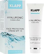 Düfte, Parfümerie und Kosmetik Gesichtscreme mit Hyaluronsäure, Arganöl und LSF 15 - Klapp Cosmetics Hyaluronic Face Protection