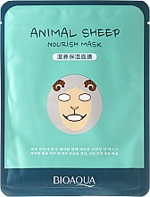 Düfte, Parfümerie und Kosmetik Nährende Tuchmaske für das Gesicht - Bioaqua Animal Sheep Nourish Mask
