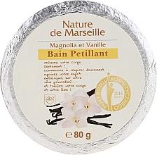 Düfte, Parfümerie und Kosmetik Badebombe mit Magnolien- und Vanilleduft - Nature de Marseille Magnolias&Vanilla