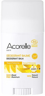 Bio Deostick mit Ylang-Ylang und Palmarosa - Acorelle Deodorant Balm — Bild N1