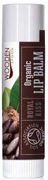Nährender und feuchtigkeitsspendender Bio Lippenbalsam mit Kakaobutter, Kokosnussöl und Sheabutter - Wooden Spoon Lip Balm Royal Kiss — Bild N1