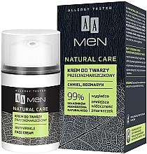 Düfte, Parfümerie und Kosmetik Gesichtscreme gegen Falten mit Hopfen und Rosmarin - AA Men Natural Care Anti-Wrinkle Face Cream