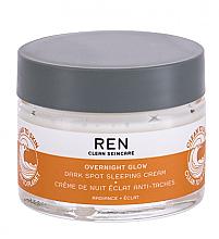 Düfte, Parfümerie und Kosmetik Nachtcreme für das Gesicht gegen Pigmentflecken - REN Clean Skincare Overnight Glow Dark Spot Sleeping Cream