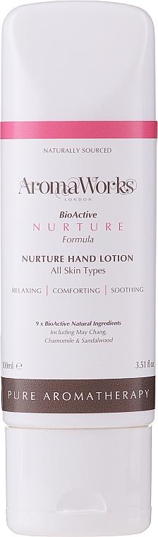 Nährende beruhigende und feuchtigkeitsspendende Handlotion - AromaWorks Nurture Hand Lotion (Tube) — Bild N1