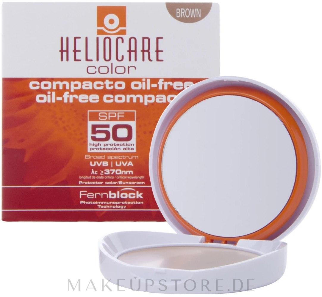 Kompakter Creme-Puder für fettige und Mischhaut SPF 50 - Heliocare Color Compact Oil-Free Spf 50 — Bild Brown