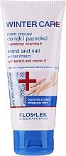 Düfte, Parfümerie und Kosmetik Hand- und Nagelcreme mit Keratin und Vitamin E für den Winter - Floslek Winter Care Hand And Nail Winter Cream
