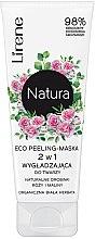 Düfte, Parfümerie und Kosmetik Peelingmaske für das Gesicht mit Rosen und Himbeeren - Lirene Natura Eco Peeling-Mask