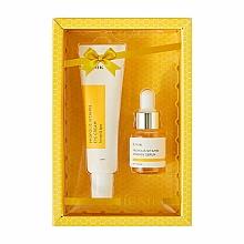 Düfte, Parfümerie und Kosmetik Gesichtspflegeset - iUNIK Propolis Vitamin Eye Cream Set (Augencreme 30ml + Gesichtsserum 15ml)