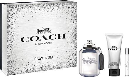 Coach Platinum - Duftset (Eau de Parfum 100ml + Eau de Parfum 7.5ml + Duschgel 100ml) — Bild N1