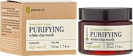 Düfte, Parfümerie und Kosmetik Reinigende Gesichtsmaske mit weißem Ton - Phenome Sustainable Science Purifying White Clay Mask