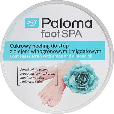 Zucker Fußpeeling mit Traubenkernöl und Mandeln - Paloma Foot SPA  — Bild N1