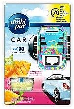 Düfte, Parfümerie und Kosmetik Auto-Lufterfrischer-Set Tropische Früchte - Ambi Pur (Aroma-Diffusor 1 St. + Refill 7ml)