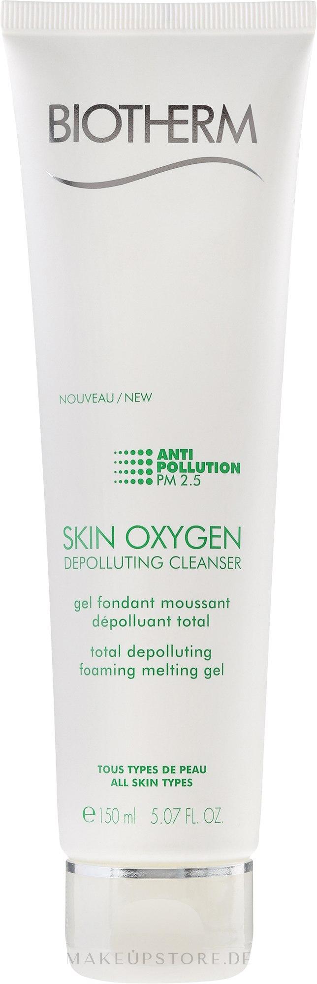 Reinigungsgel - Biotherm Skin Oxygen Depolluting Cleanser — Bild 150 ml