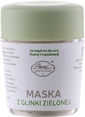 Gesichtsmaske mit grünem Ton - Jadwiga Face Mask — Bild N1