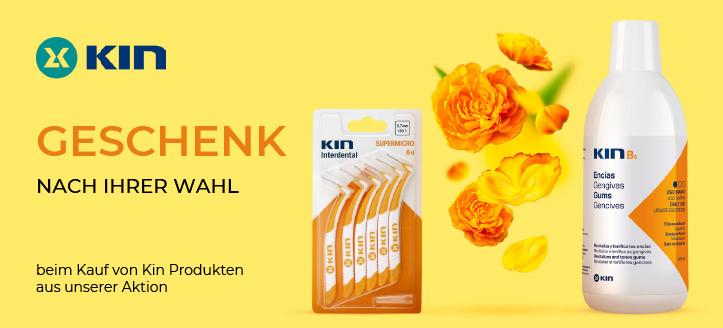 Beim Kauf von Kin Produkten aus unserer Aktion bekommen Sie ein Geschenk nach Ihrer Wahl: Interdental Zahnbürste oder Zahnbürste