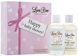 Düfte, Parfümerie und Kosmetik Love Boo Happy Baby Shower - Körperpflegeset für Baby und Mutter (2in1 Duschgel und Shampoo für empfindliche Babyhaut 250ml + Duschgel für Mutter 250ml)