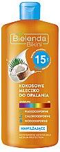 Düfte, Parfümerie und Kosmetik Sonnenschutzmilch mit Kokos SPF 15 - Bielenda Bikini Moisturizing Suntan Milk Medium Protection