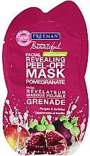 Düfte, Parfümerie und Kosmetik Peel-Off Gesichtsmaske mit Granatapfel - Freeman Feeling Beautiful Peeling Facial Mask with Pomegranate (Mini)