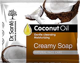 Düfte, Parfümerie und Kosmetik Feuchtigkeitsspendende Cremeseife für das Gesicht mit Kokosnussöl - Dr.Sante Cream Soap