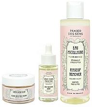 Düfte, Parfümerie und Kosmetik Gesichtspflegeset - Panier Des Sens Radiant Peony (Make-up Entferner 200ml + Gesichtsserum 30ml + Gesichtscreme 50ml)