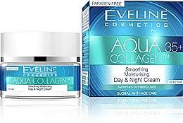 Düfte, Parfümerie und Kosmetik Glättende Anti-Falten Tages- und Nachtcreme 35+ - Eveline Cosmetics Aqua Hybrid Cream