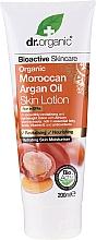 Düfte, Parfümerie und Kosmetik Revitalisierende, nährende und feuchtigkeitsspendende Körperlotion mit Bio marokkanischem Arganöl - Dr. Organic Bioactive Skincare Organic Moroccan Argan Oil Skin Lotion