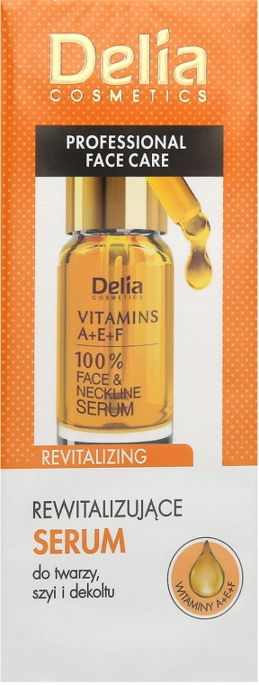 Revitalisierendes Serum für Gesicht, Hals und Dekolleté mit Vitaminen - Delia Face Care Anti-Wrinkle and Revitalizing Face Neckline Intensive Serum — Bild N1