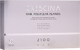 Düfte, Parfümerie und Kosmetik Anti-Haarausfall Ampullen für Männer 2100 - Labo Crescina Hair Follicular Island Re-Growth Anti-Hair Loss Complete Treatment 2100 Man