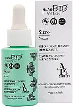 Düfte, Parfümerie und Kosmetik Sebonormalisierendes Gesichtsserum mit Matteffekt -PuroBio Cosmetics Serum - Balancing Matte Effect
