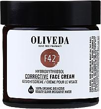 Düfte, Parfümerie und Kosmetik Regenerierende und ausgleichende Gesichtscreme mit Hydroxytyrosol - Oliveda F42 Gesichtscreme Hydroxytyrosol Corrective Face Cream