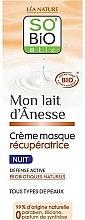 Düfte, Parfümerie und Kosmetik Regenerierende Nachtcreme-Macke mit Eselsmilch - So'Bio Etic Overnight Recovery Cream