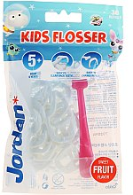 Düfte, Parfümerie und Kosmetik Mundpflegeset - Jordan Kids Flosser (Zahnseide 1 St. + Refill 36 St.) rosa